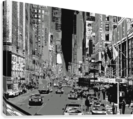 Madison Ave B&W  Canvas Print