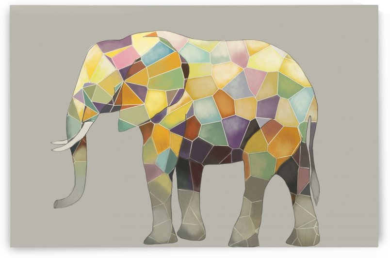 Elephant Mosaic by Yurovich Gallery
