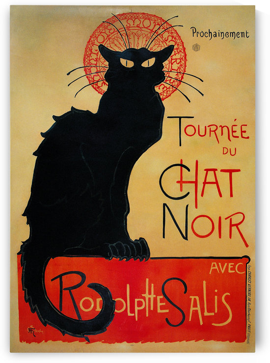 Theophile Steinlen - Tournee du Chat Noir by VINTAGE POSTER