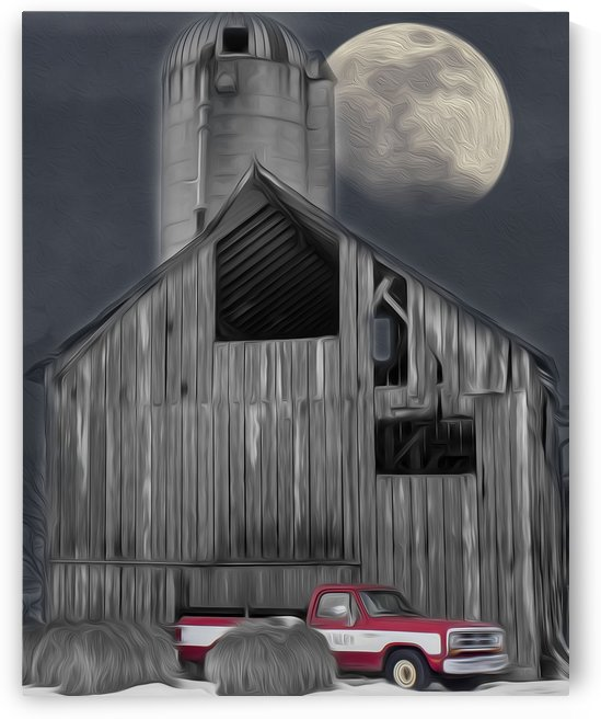 Evening at the Barn by G  Stevenson
