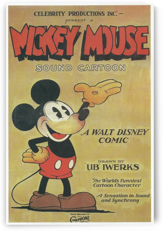 Mickey Mouse Sound Cartoon by VINTAGE POSTER