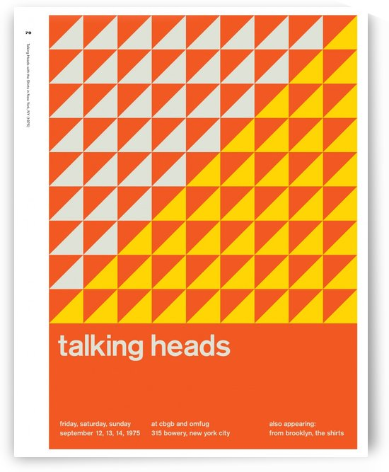 Talking heads by VINTAGE POSTER