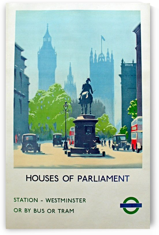 London Underground Houses of Parliament by VINTAGE POSTER