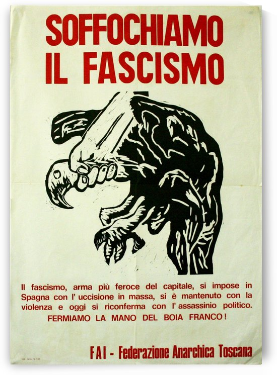 Suffocate fascism by VINTAGE POSTER