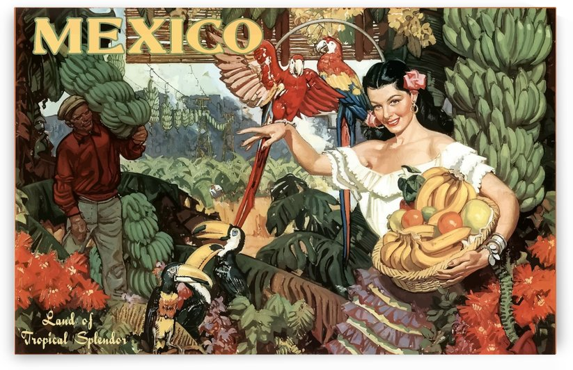 Mexico Land of Tropical Splendor by VINTAGE POSTER