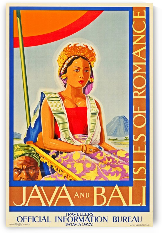 Java and Bali travel poster by VINTAGE POSTER