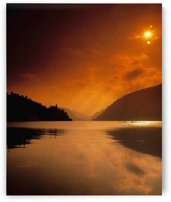 Glenveagh Castle And Lough Veagh, Glenveagh National Park, Co Donegal, Ireland by PacificStock