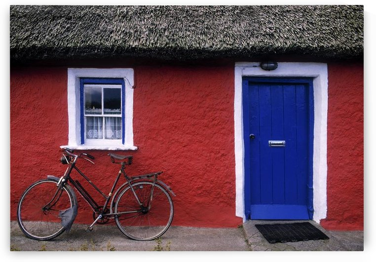 Askeaton, Co Limerick, Ireland, Bicycle In Front Of A House by PacificStock