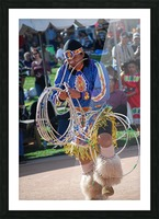 Hoop dance championships 2008  Picture Frame print