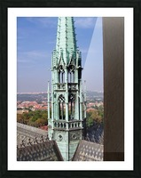 Atop The cathedral in Prague Picture Frame print