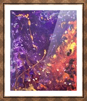 The Flow Purple and Orange Abstract Picture Frame print