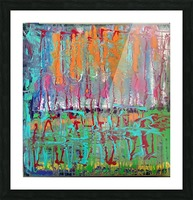 Three Ring Circus a Colorful Abstract Painting Picture Frame print