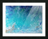 Wet an Abstract wave Picture Frame print