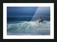 Surfer In California Picture Frame print