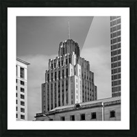 Historic Reynolds Building 2 bw  Picture Frame print