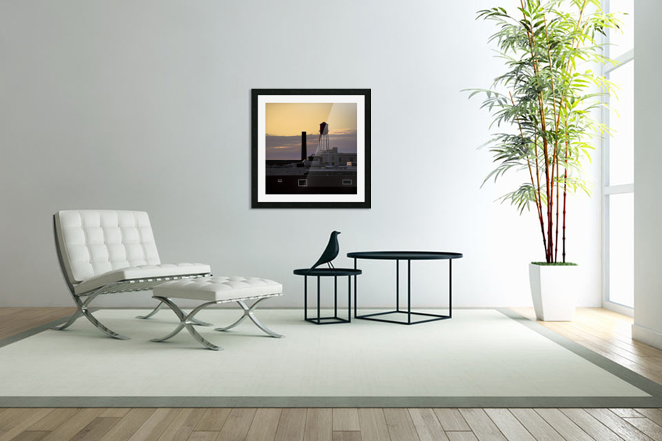 City Rooftops C in Custom Picture Frame