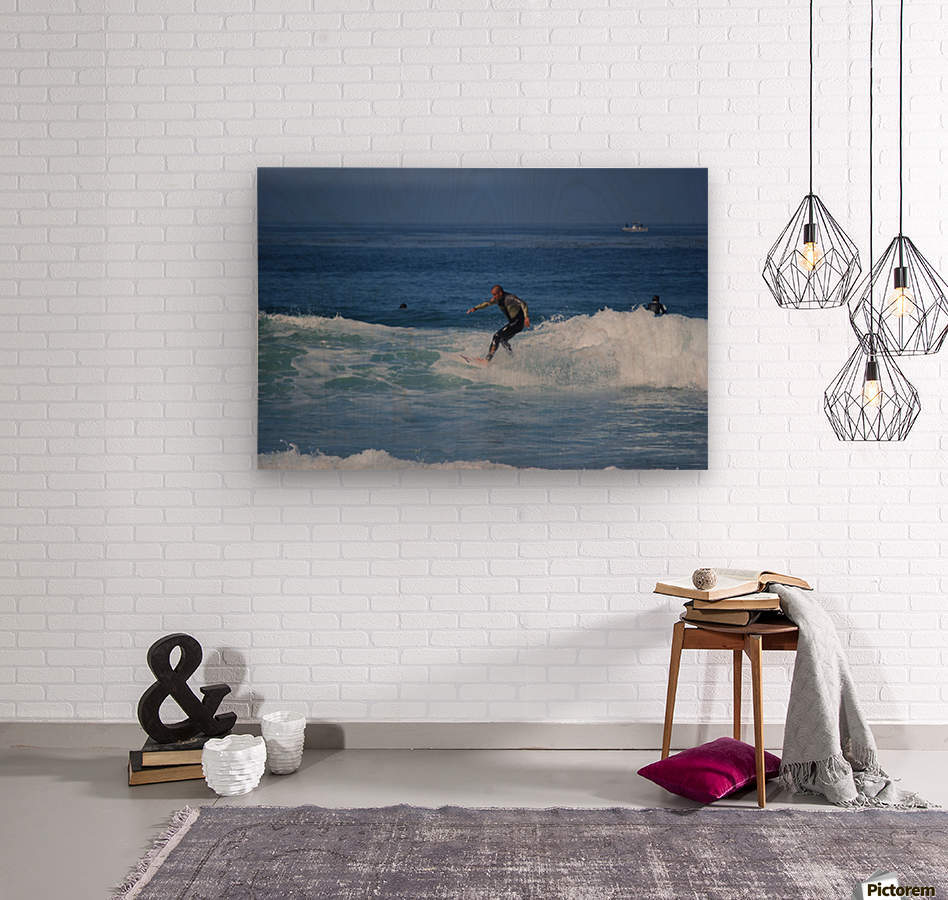 Dana Point surfers   Wood print