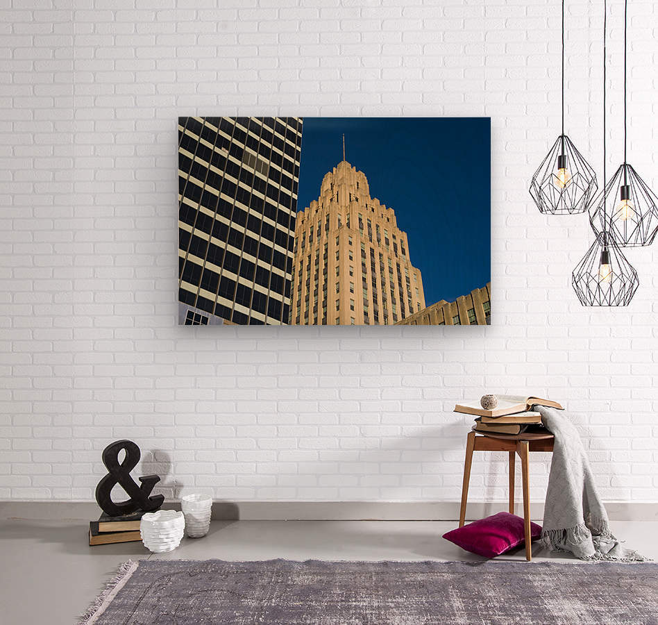 City Towers  Wood print